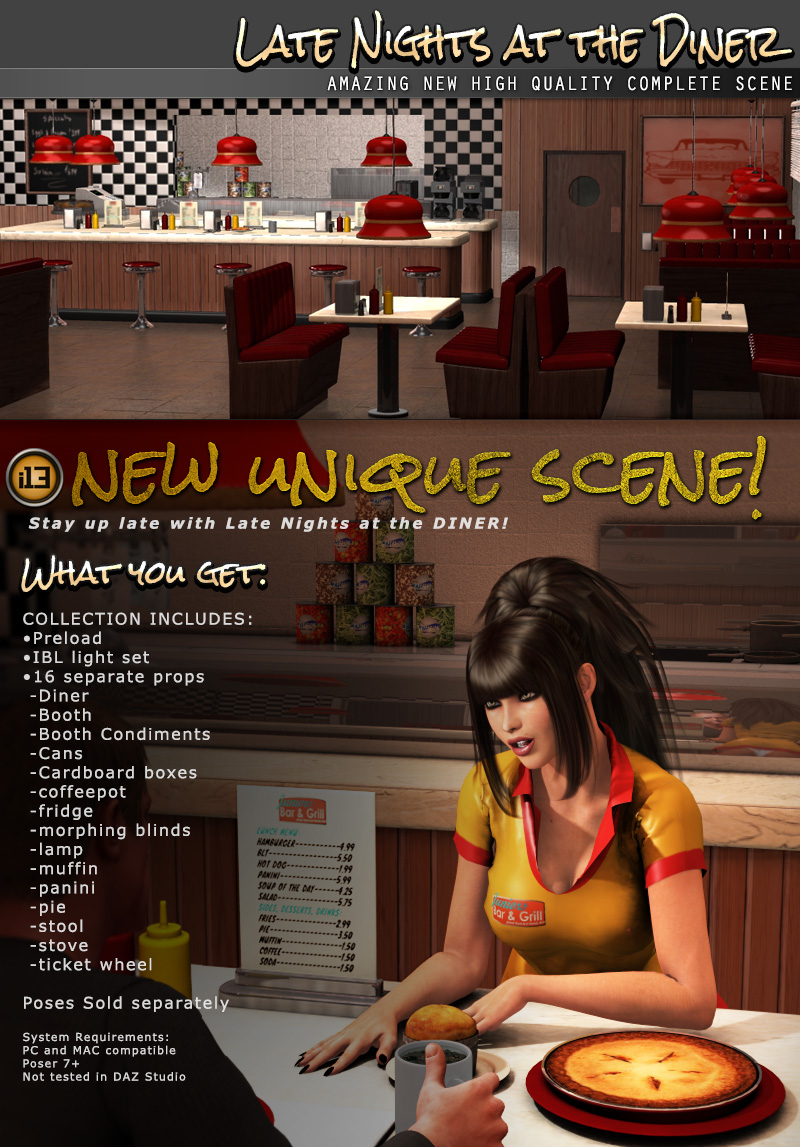 i13 Late Nights at the DINER - Extended License by ironman13