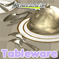 Tableware - Extended License 3D Models powerage