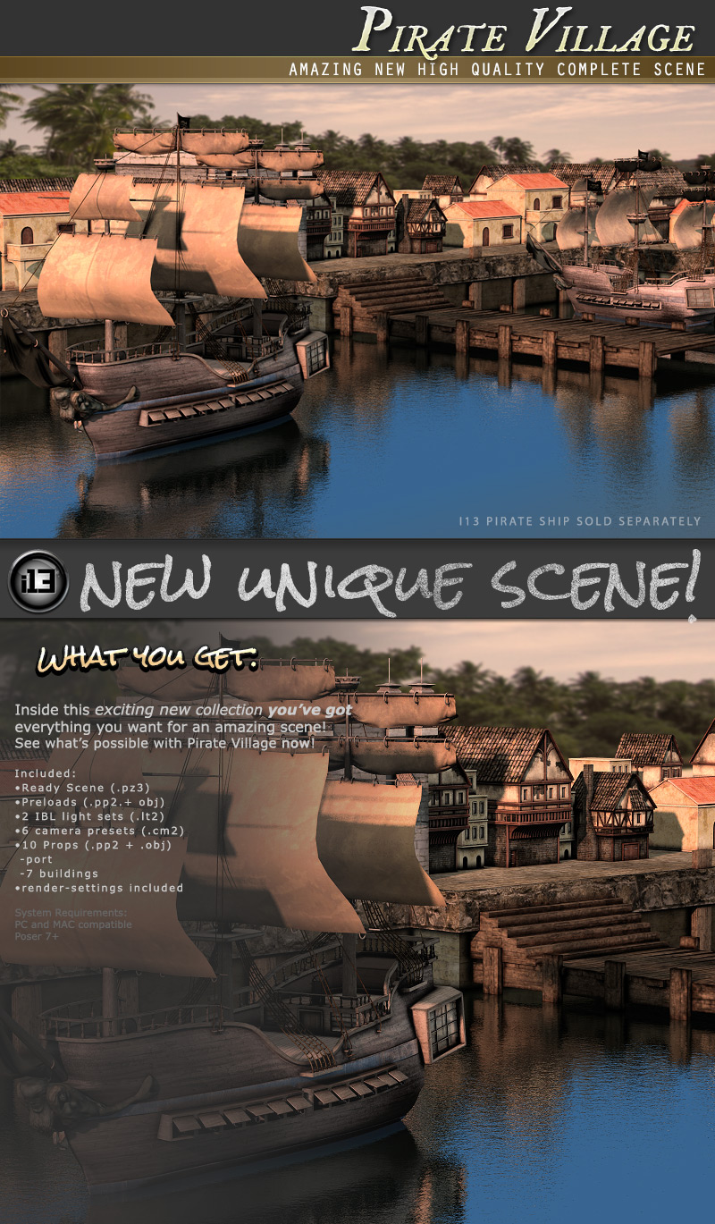 i13 Pirate Village - Extended License