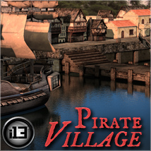 i13 Pirate Village - Extended License 3D Models Fugazi1968