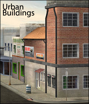 Urban Buildings Set - Extended License 3D Models Gaming RPublishing