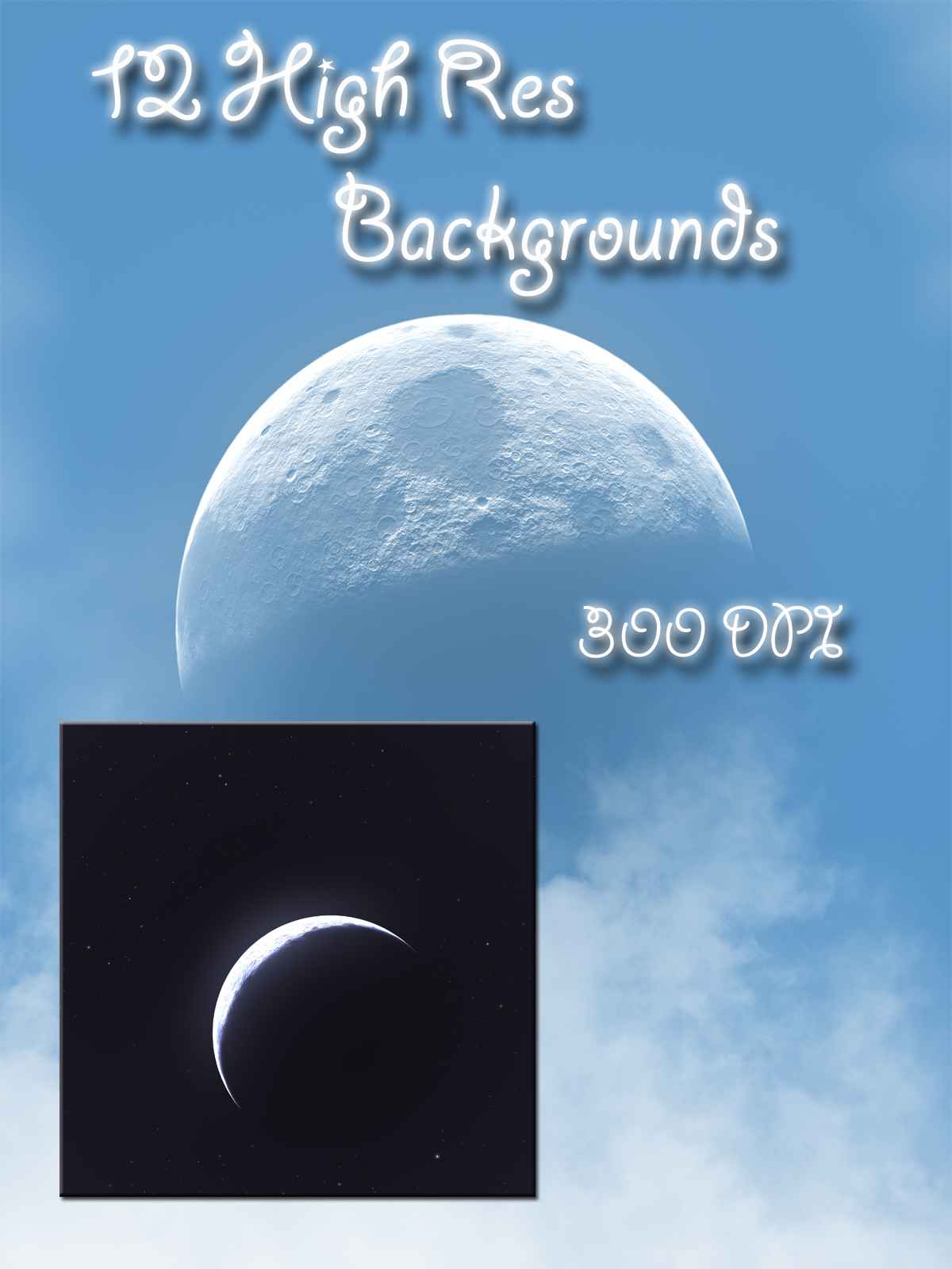 Drama Skies Backgrounds - Moons