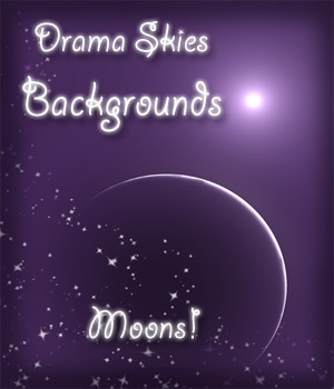 Drama Skies Backgrounds - Moons 2D Graphics ellearden