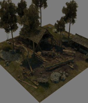 Medieval_Logging_Camp 3D Models Dante78