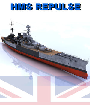 HMS Repulse 3D Models AliceFromLake