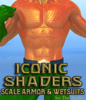 Iconic Shaders: Scale Armor and WetSuits 3D Figure Essentials CMKook-24601