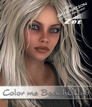 Colorme BeachClub 3D Figure Assets Zoe