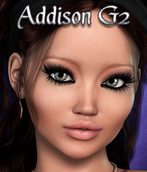 3DS Addison G2 3D Figure Assets 3DSublimeProductions