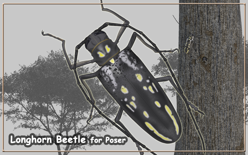 Longhorn Beetle for Poser by JTrout