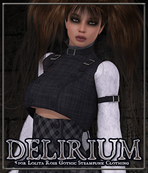 DELIRIUM for Lolita Rose Gothic Steampunk Clothing 3D Figure Essentials Anagord