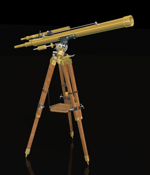 MS14 Antique Telescope Poser 3D Models London224
