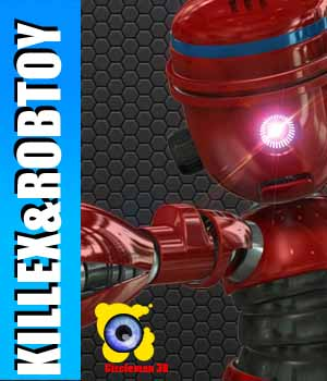 Killex and RobToy 3D Figure Assets 3D Models circleman