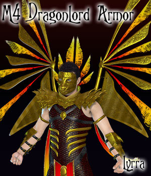 M4 DragonLord Armor 3D Figure Essentials Lyrra
