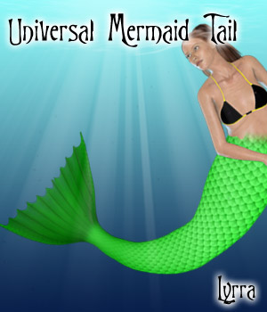 Universal Mermaid Tail 3D Figure Essentials Lyrra