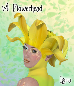 V4 FlowerHead 3D Figure Essentials Lyrra