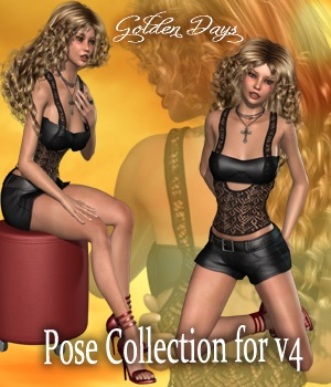Golden Days Poses for V4 3D Figure Essentials vanda51