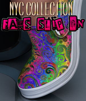 NYC Collection: Fads Slip On  3D Figure Essentials 3DSublimeProductions