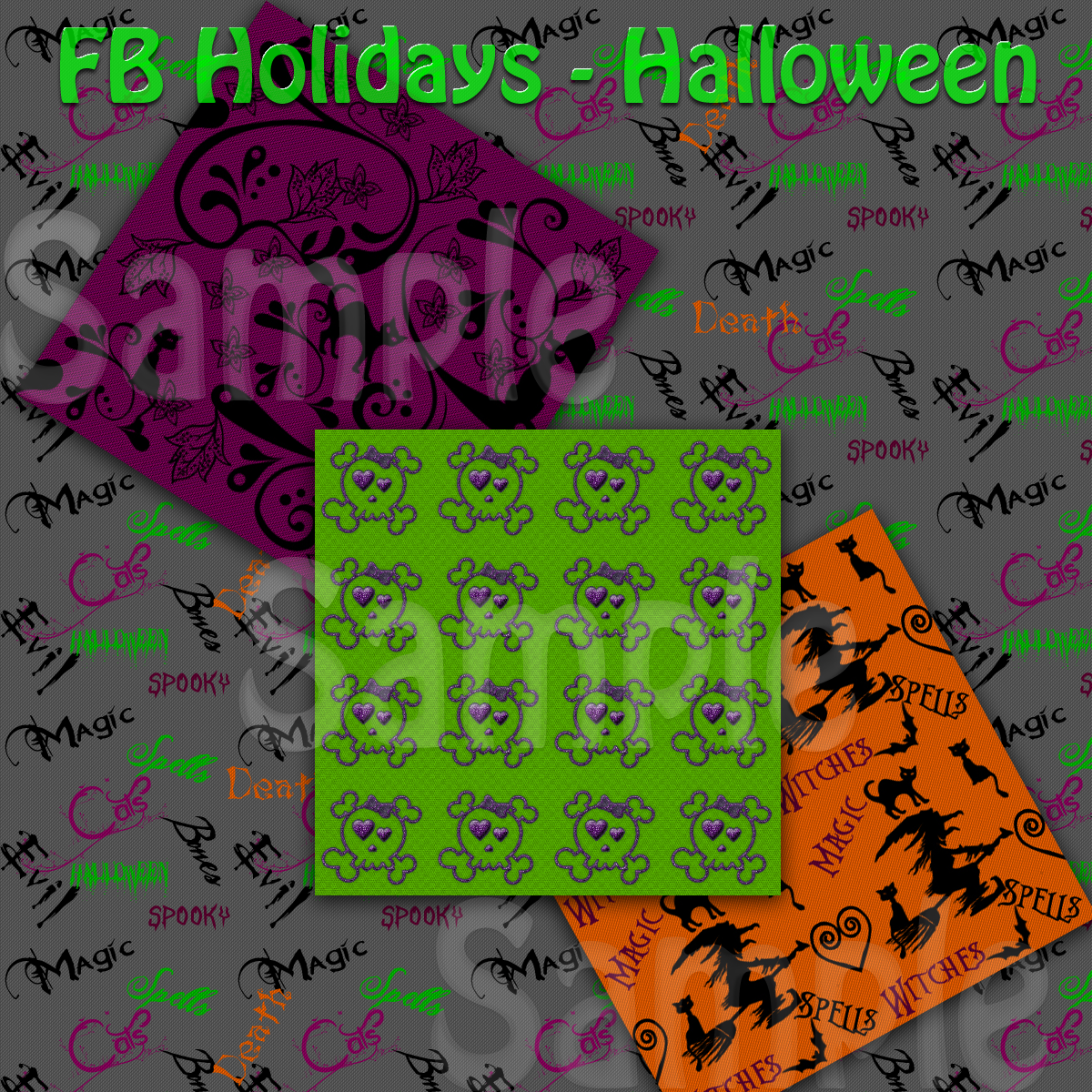 FB Holidays Halloween - Seamless Tiles A Merchant Resource