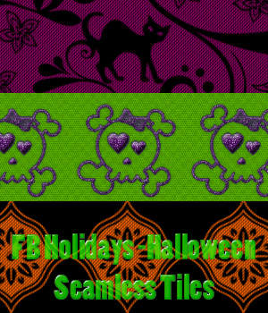 FB Holidays Halloween - Seamless Tiles A Merchant Resource 2D Graphics Merchant Resources fictionalbookshelf