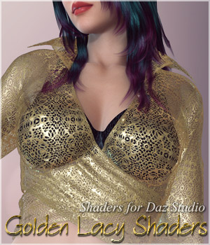 Golden Lacy Shaders 2D Graphics 3D Figure Assets lilflame
