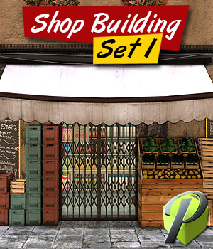 Shop Building Set 1 3D Models powerage