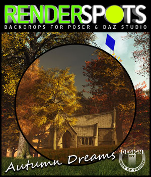 RenderSpots Autumn Dreams for Poser and DAZ Studio 3D Models 2D outoftouch