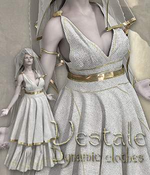 Vestale -  Dynamic Clothes for Victoria 4 3D Figure Assets Tipol