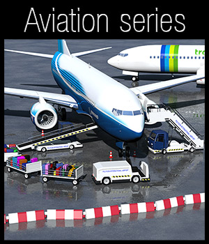 Airport ground support vehicles - Extended License 3D Models Extended Licenses 2nd_World