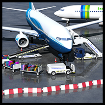 Airport ground support vehicles - Extended License 3D Models Gaming 2nd_World
