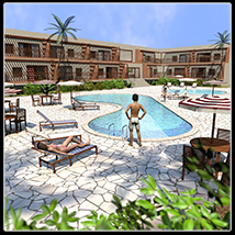 Mediterranean Hotel, Marbella - Extended License Gaming 3D Models 2nd_World