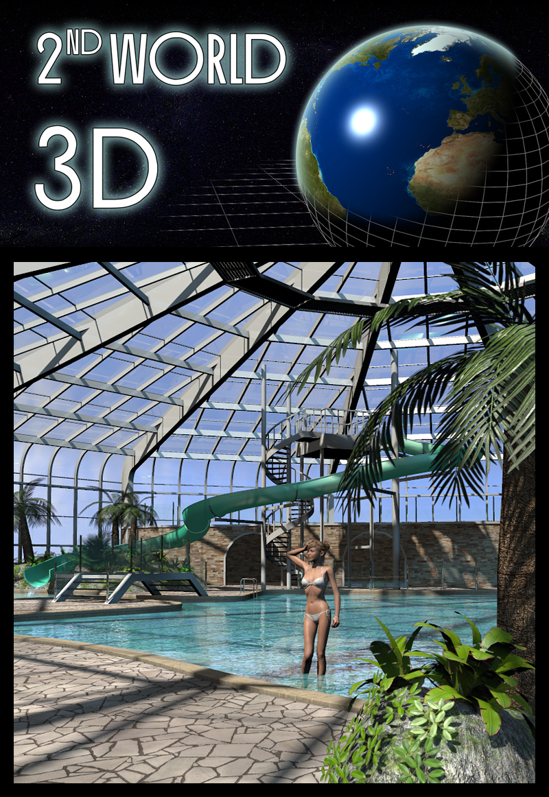 Tropical indoor public pool - Extended License