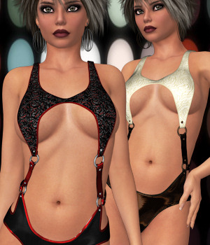 Leather N Lace for Not Ordinary 3D Figure Assets ANG3L_R3D