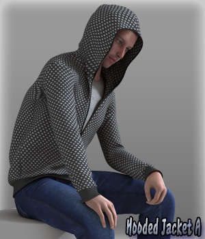 Hooded Jacket A 3D Figure Essentials kang1hyun