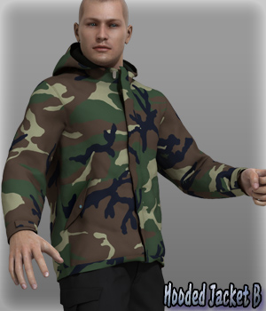 Hooded Jacket B 3D Figure Essentials kang1hyun