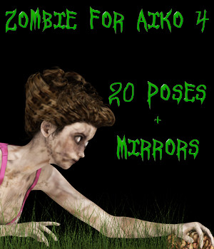 Zombie Poses For Aiko 4 3D Figure Essentials fictionalbookshelf