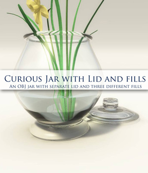 Curious Terrarium Jar With Fills OBJ by curious3d