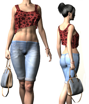 Casual Monday Outfit for Genesis 2 Female(s) 3D Figure Assets Toyen