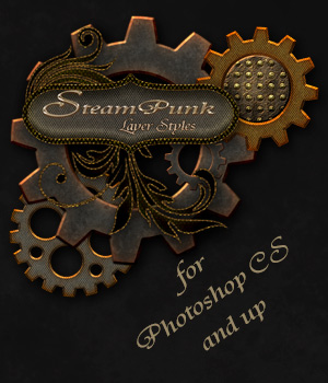 Steampunk Layer Styles 2D antje