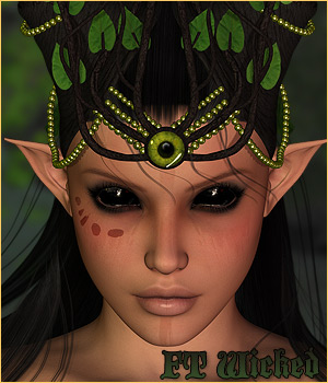 Forest Tales - Wicked Horns & Hair 3D Figure Essentials P3D-Art