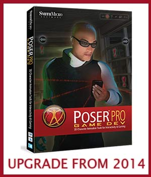 UPGRADE From Poser Pro 2014 to Poser Pro 2014 Game Dev Software Poser Software-Smith Micro Smith_Micro