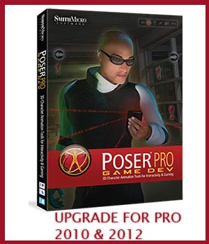 UPGRADE From Poser Pro 2010 or 2012 to Poser Pro 2014 Game Dev Software Poser Software-Smith Micro Smith_Micro