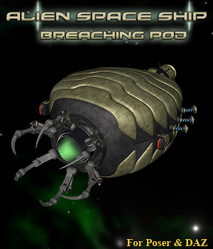 Alien Breaching Pod 3D Models Simon-3D