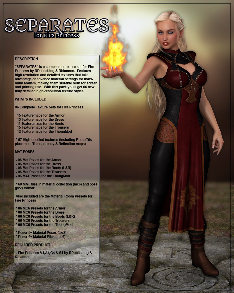 SEPARATES for Fire Princess by Anagord