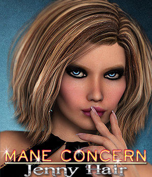 Mane Concern: Jenny Hair 3D Figure Essentials 3DSublimeProductions