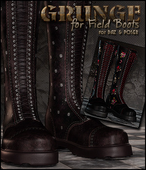 Grunge for Field Boots DS/Poser 3D Figure Assets Sveva