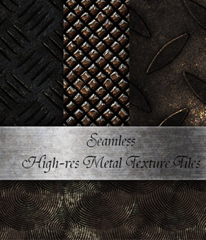 Seamless Metal - Texture Tiles 2D Graphics Merchant Resources antje