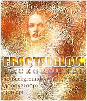 FRACTALGLOW Backgrounds Set-II 2D RajRaja
