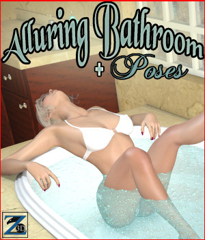 Z Alluring Bathroom + Poses 3D Models 3D Figure Essentials Zeddicuss