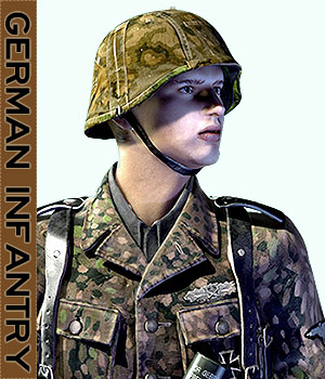 German Infantry WWII 3D Figure Essentials 3D Models tannenbaum