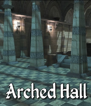 Arched Hall 3D Models dexsoft-games
